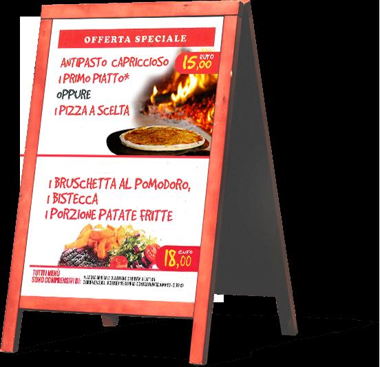 Menù offerte Pizzeria